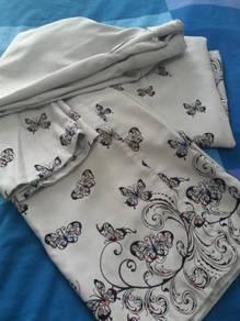 Baju kurung light grey