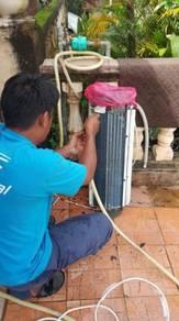 Servis aircond dan membuat wiring rumah