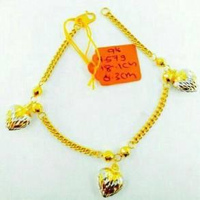 Gelang tangan emas (916)