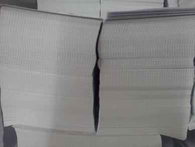 Kertas Putih 80gsm B5 (hampir saiz A4)