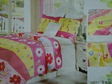 Patchwork single pink
