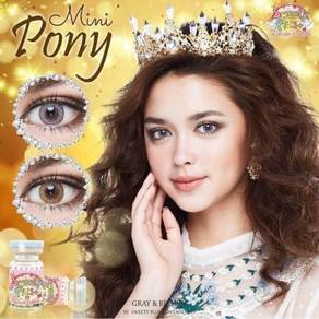 Contact lens (retail/borong) mini pony gray