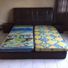 King Size Bed Sets with Side Cabinets