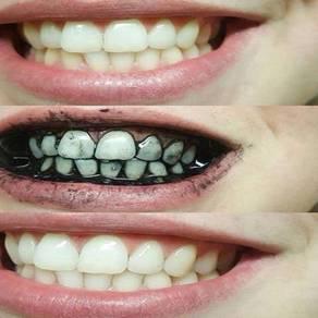 Charcoal gigi putih pemutih gigi