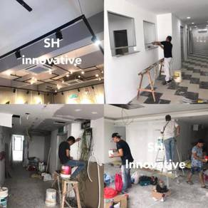 Renovation drywall partition glass floor ceilings
