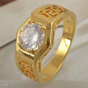 ABRGF-W005 9K Yellow Gold Filled Crystal Ring Sz 9