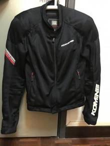 Komine 07-100 Mesh Jacket CE Armour Size M Black
