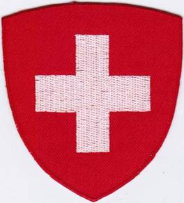 Switzerland Swiss Coat of Arms Badge Iron On Patch