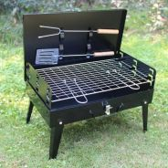 Portable barbeque set