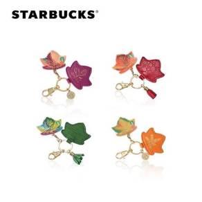 Starbucks Autumn Leaf Keychain + Card
