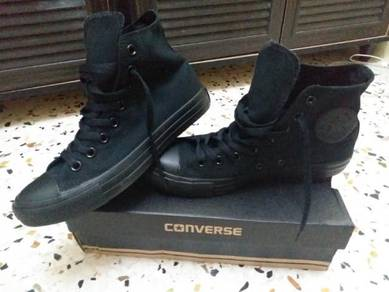 Converse High Cut Kain Hitam