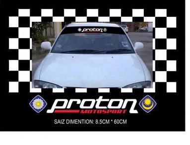 Sticker proton uk spec_ windscreen