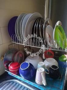 Rak pinggan mangkuk stainlessness