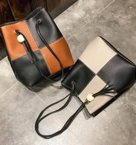 Bucket bag handbag shoulder sling bag3 in 1