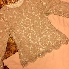 Lace Kurung with Pearl