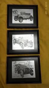 Old Vintage Antique Car Photo Frame (3pcs)