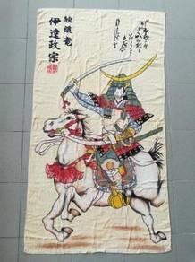 Vintage SAMURAI KUDA towel tuala kueii