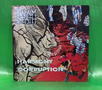 Napalm Death HARMONY CORRUPTION 1990 Earache 2 LP