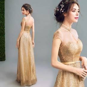 Gold glitter dinner dress prom wedding RBP0072