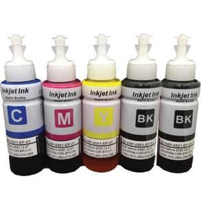 5 Bottle CMYK UNIVERSAL Printer Refill Ink