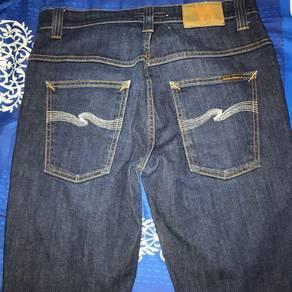 Nudie Jeans Thin Finn Organic Dry Ecru Embo