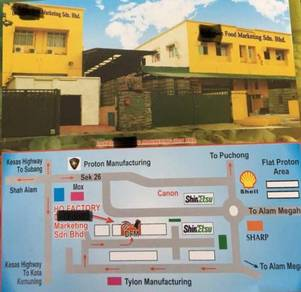 Food Processing Factory for Sale seks26 Shah Alam
