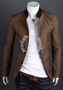 Korean stylish character buttoned slimfit blazer