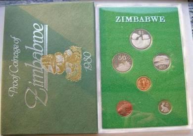 Zimbabwe Proof Coin set 1980