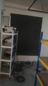 Antminer soundproof mining crytocurrency farm