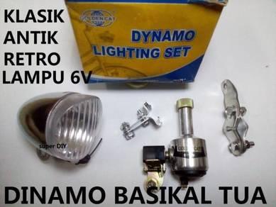 Dinamo Lampu Basikal Tua 6V Antik, Retro, Klasik