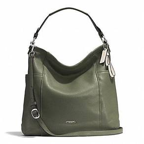 Coach park leather hobo olive color