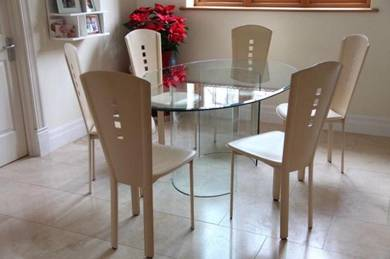 Lazio glass dining table with6 chairs