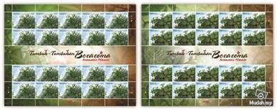 Stamp Sheet Aromatic Plant Malaysia 2012