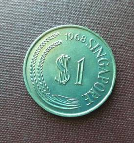 Singapore Old Coins 1 Dollar 1968