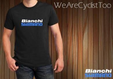 Baju T-Shirt BIANCHI SHIMANO NSQ215 siap poslaju
