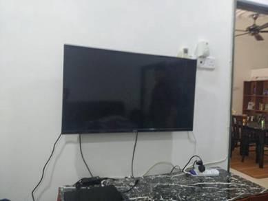 Bracket TV Melaka Siap Pemasangan Complete