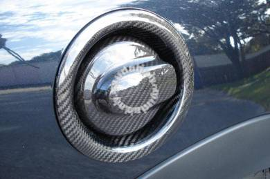 MINI R55 R56 Dry Carbon Petrol Cover Cap Trim Set