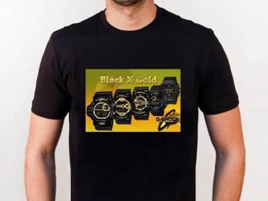 Baju T-Shirt BLACK AS GOLD NSQ207 siap poslaju