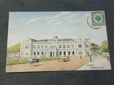 Postcard Penang Town Club 1921 PC 132