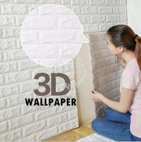 (KL)PE Foam 3D DIY Wallpaper ready stock