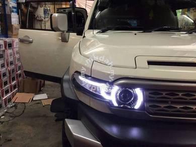 Toyota fj cruiser led headlamp head lamp grille 4