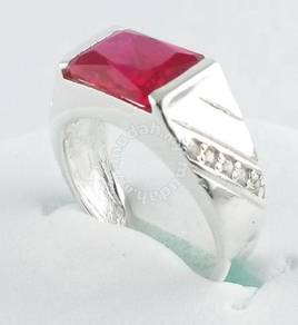 Silver ring 925 red stone