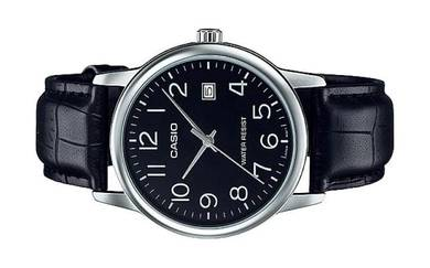 Casio Men Analog Leather Date Watch MTP-V002L-1BUD
