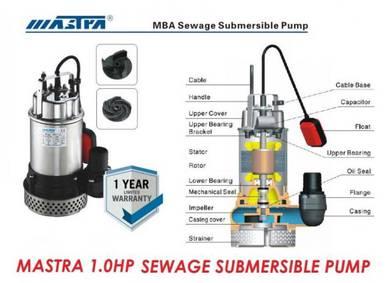Mastra MBA 1.0HP Auto Sewage Submersible Pump