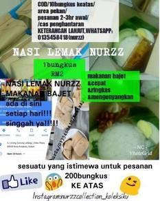 NASI LEMAK NURZZ/RM2.00(1bungkus)