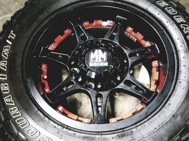 Rim 4x4 mahyem usa 18 inch tyre mt federal