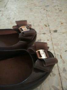 Dark brown colour, high heel wedges (4 inches)