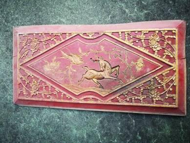 Vintage Collectible Wood Panel Deer Antique Antik