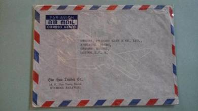 OFFER Antik Cover Kuching London 1959 No 1395
