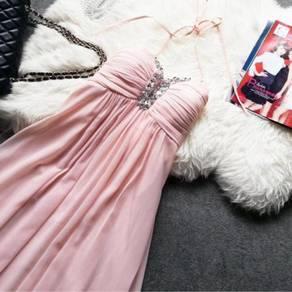 Pink wedding bridal bridesmaid prom dress RBBD0031